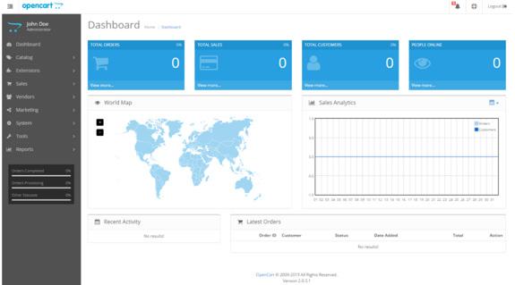 OpenCart panel görseli