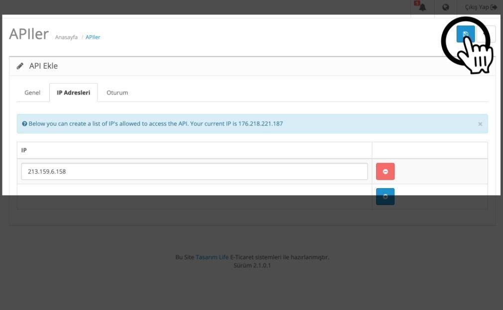 Paraşüt OpenCart Entegrasyonu OpenCart Site Panel APİ İP Ekleme
