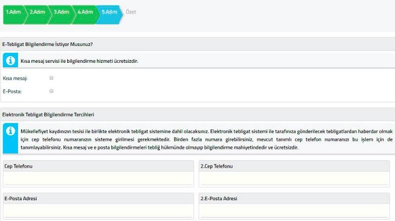 şahıs şirketi kurmak için İnteraktif Vergi Dairesi panelinden İşe Başlama Bildirimi Özeti ekran görüntüsü