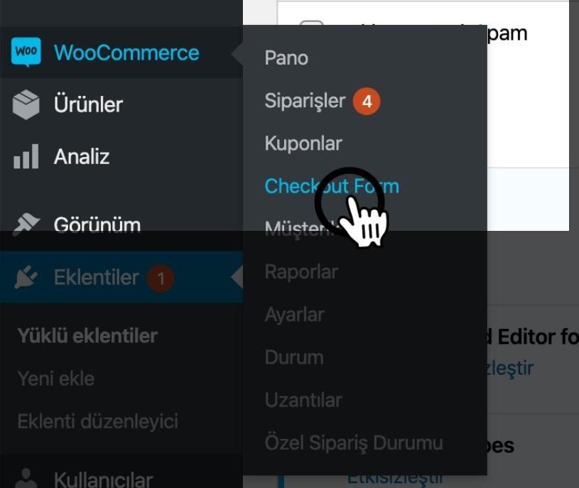 Paraşüt WooCommerce Entegrasyonu WooCommerce Yönetim Paneli WooCommerce Checkout Form