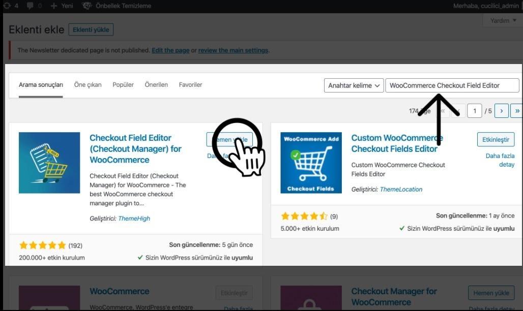 Paraşüt WooCommerce Entegrasyonu WooCommerce Yönetim Paneli Eklentiler WooCommerce Checkout Field Editor