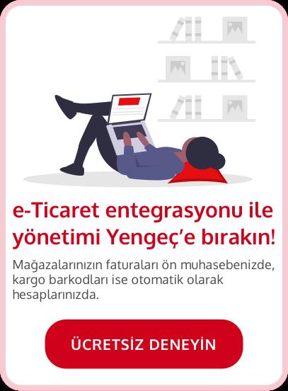 e-Ticaret entegrasyonu ile yönetimi Yengeç'e bırakın, ücretsiz denemek için tıklayın.