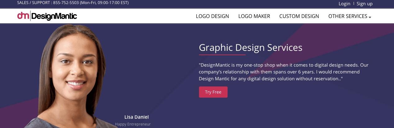 kartvizit hazırlamaya yardımcı araçlardan DesignMantic'in ekran görüntüsü