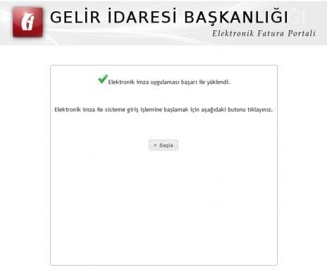 GİB portale giriş ekran görüntüsü