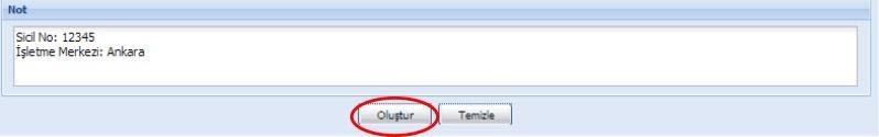 GİB portal üzerinden e-fatura oluşturmak için not ekleme formu ekran görüntüsü