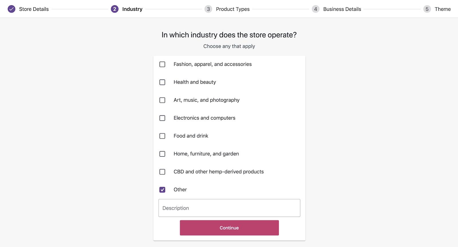 WordPress yönetim paneli WooCommerce Endüstri formu ekran görüntüsü