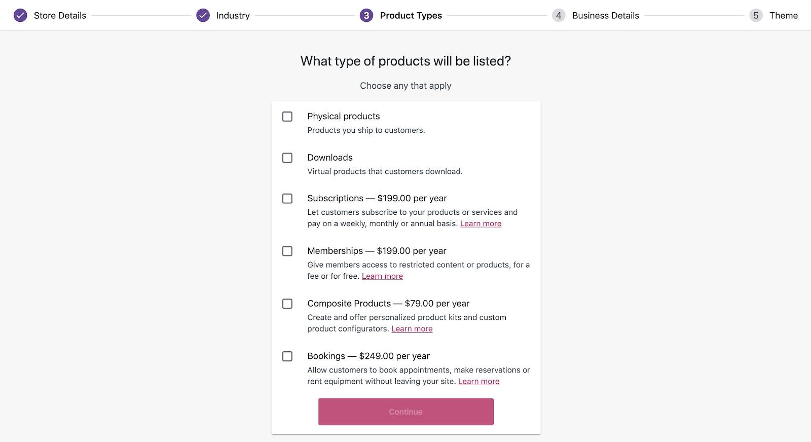 WordPress yönetim paneli WooCommerce Ürün Türleri formu ekran görüntüsü