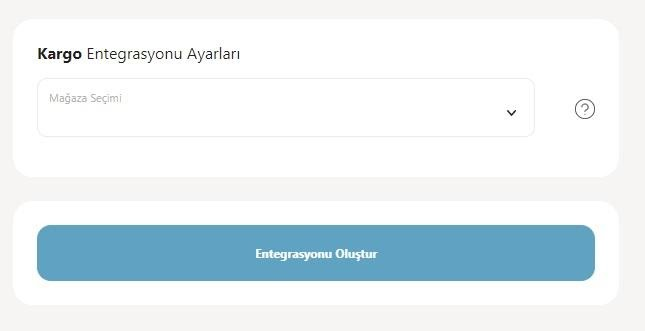 Yengeç'in kargo entegrasyonu ile kargo firmalarından Yurtiçi Kargo için entegrasyon ekleme sürecinde Kargo Entegrasyonu Ayarları formu ekran görüntüsü