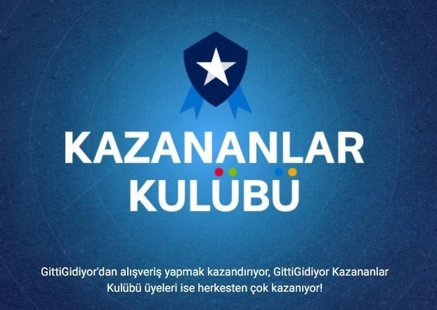 GittiGidiyor'un Kazananlar Kulübü uygulama afişinin ekran görüntüsü