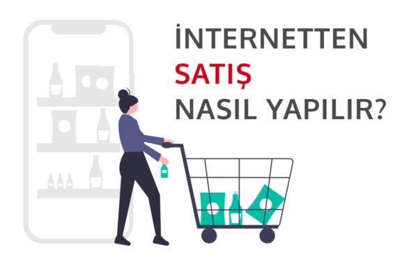 internetten satışı temsil eden görsel