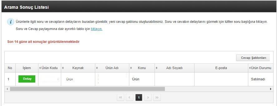 pazaryerlerinde iptal ve iadeyi önlemek için N11 ürün sorularım ekran görüntüsü