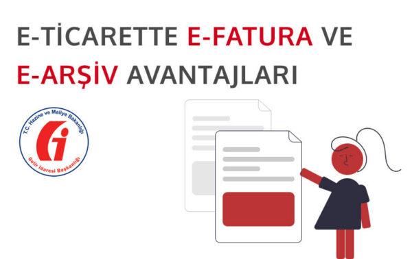 e-ticarette e-fatura ve e-arşiv ile zaman kazanmayı temsil eden görsel