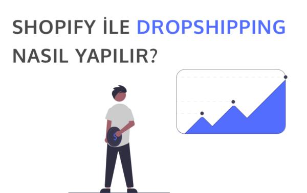Shopify ile dropshipping nasıl yapılır temsil eden görsel