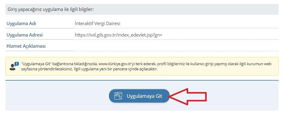 e-ticarette vergi muafiyeti için esnaf vergi muafiyeti belgesi alma adımlarından interaktif vergi dairesi uygulama bilgileri ekran görüntüsü