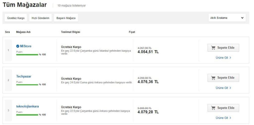 e-ticarette buybox örneklerinden N11 Buybox ekran görüntüsü